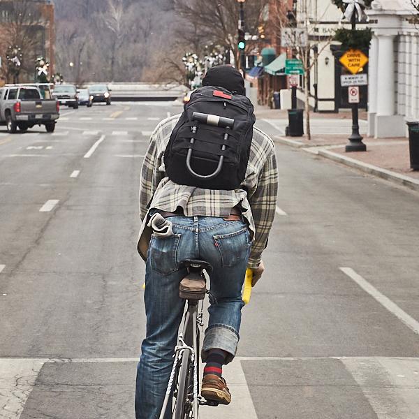 EDC bag on bicycle