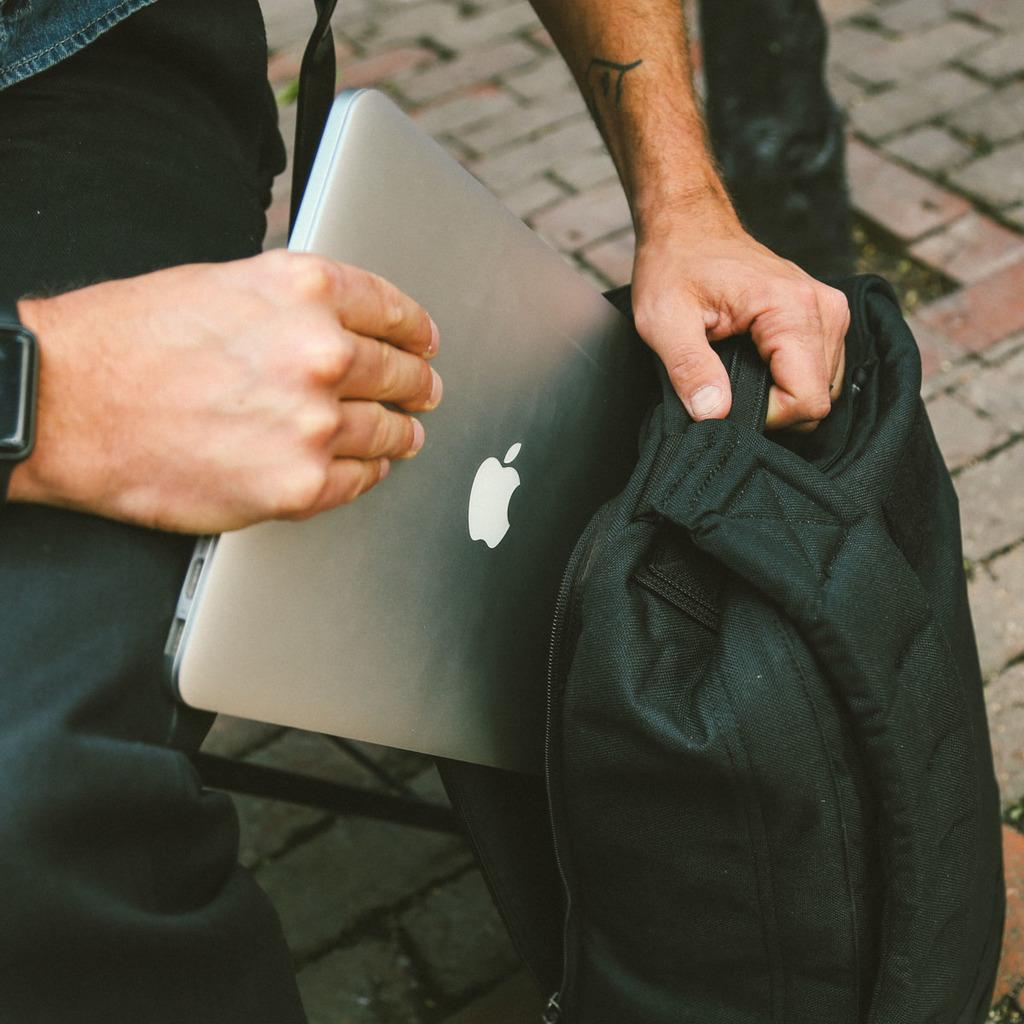 laptop in EDC bag