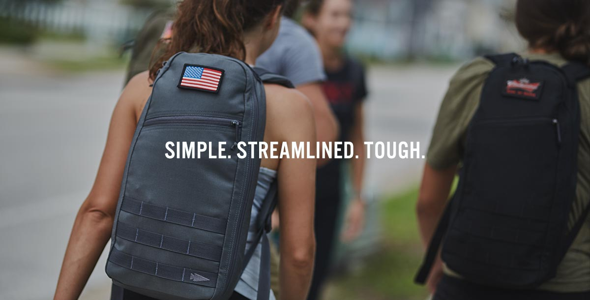 Girl Rucking with Bullet Backpack
