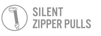 Rucker Silent Zipper Pulls Features