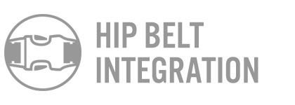 Rucker Hip Belt Integration Features